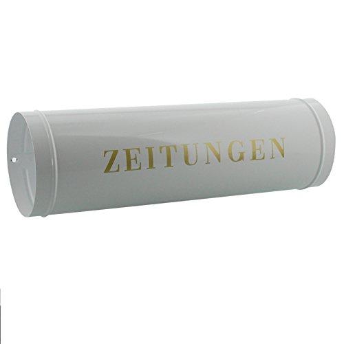 BURG-WÄCHTER Zeitungsrolle mit Kunststoffabdeckung, Briefkastenergänzung, Verzinkter Stahl, 800 W, Weiß - 6