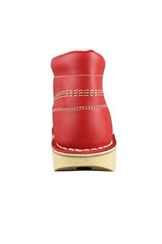 Kickers Herren Kick Hi M Core Leder-Schnürschuhe Rot