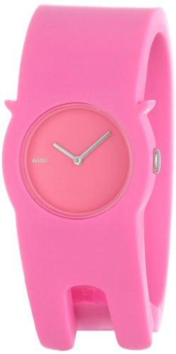 Alessi Unisex-Armbanduhr Analog Quartz Plastik Rosa AL24004