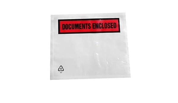 100 x A5 Plain Documents Enclosed Wallets 225x165mm