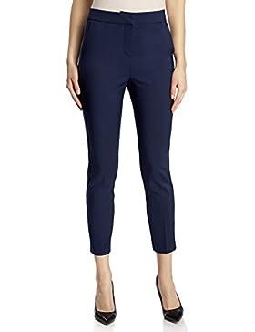 oodji Collection Mujer Pantalones Ajustados con Pinzas