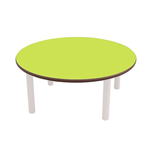 Mobeduc Table ronde infantile pour enfant, bois, Vert pomme, taille 2, 80 x 53 cm