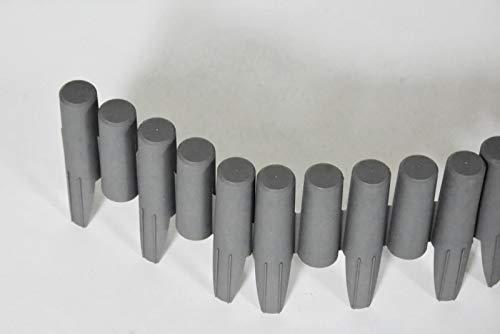 Zaun-Nagel Rasenkante 14,5 cm x 220 cm grau PP Beettrenner Abschlußkante