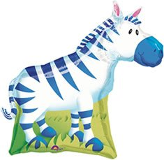 Jungle Party Zebra gigante di Lamina Palloncino (sgonfio)