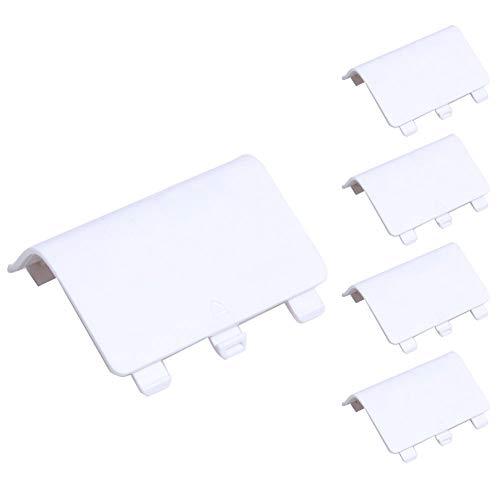 YUnnuopromi 5Pcs Controller Game Battery Back Cover Shell ErsatzTeile für Xbox One Weiß