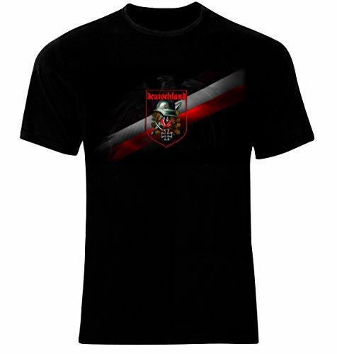 SP Design Deutsches Reich Kreuz Wehrmacht Männer T-Shirt (L)