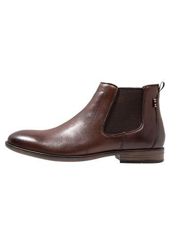 Pier One Chelsea Boots für Herren - Herrenstiefelette aus Leder - Schuhe Dunkelbraun in Größe 45