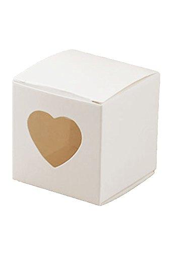 Hondex Geschenkboxen 50 Stück Pralinenschachtel mit Herz Liebe süß für Hochzeit Geburtstagsparty...