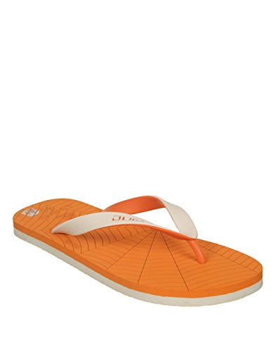 Duke Men's Orange & White Coloured Pvc Slippers 6  available at amazon for Rs.250