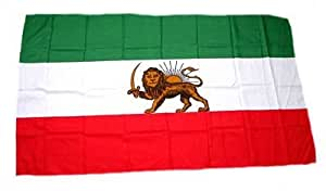 Fahne Stockflagge Iran Royal Löwe NEU 30 x 45 cm