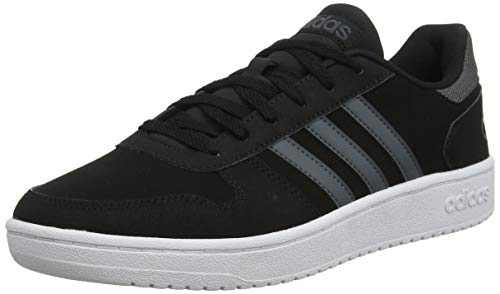 adidas Herren Hoops 2.0 Basketballschuhe, Schwarz Core Black/Grey Six/FTWR White, 44 EU