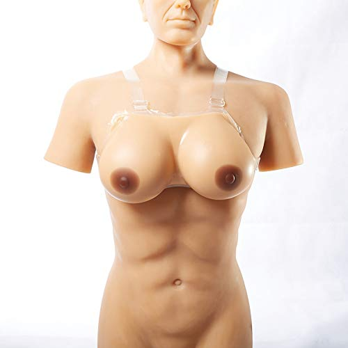 1 Paar Silikonbrust Rund Geformt Hypoallergenes Silikon Verstärker Crossdresser Transgender Mastektomie Cosplay, Körbchengröße A-HH,2,1600G/4XL/Cupee/10.8 * 6.3 * 3.1Inch