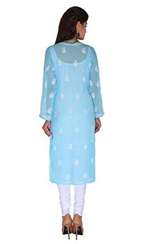 Lucknow-Chikan-Needlecraft-Regular-Wear-Faux-Georgette-Kurti-from-ADA-A90358