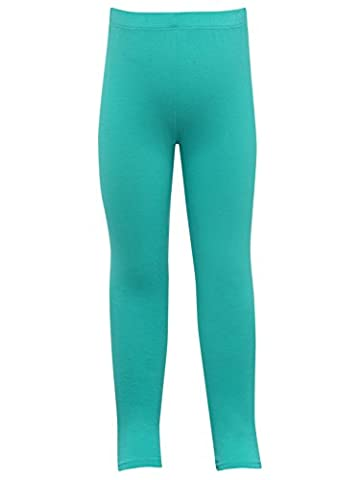 M&Co Girls Full Length Light Stretch Fabric Elasticated Waistband Jade