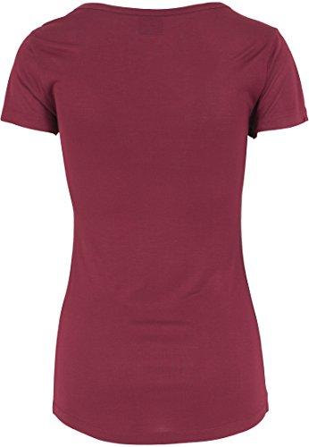 Urban Classics Damen T-Shirt Basic Viscon Tee Burgundy