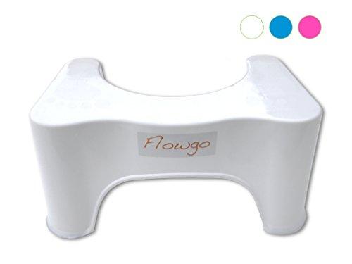 Flowgo Toilettenhocker Weiß - Gut bei Verstopfung, Reizdarm, Hämorrhoiden - Medizinisch Empfohlene Position
