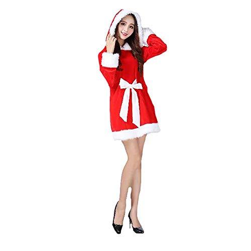 play Sexy Schal Katze Frauen Bunny Party Performance Kostüm Abendkleider Für Weihnachten/Karneval Halloween Kostüme,Red,OneSize ()