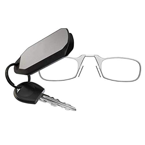 Verlike Unisex Faltbare Nasenklammer Tragbare Lesebrille Schlüsselanhänger Stärke 1,5 2,0 2,5 3