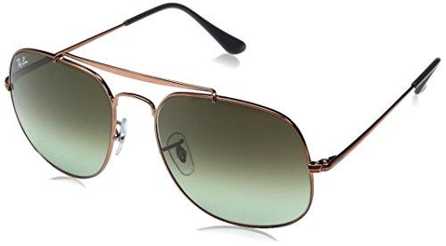 Ray-Ban Unisex-Erwachsene Sonnenbrille General, Orange (Bronze/Copper), 57 mm