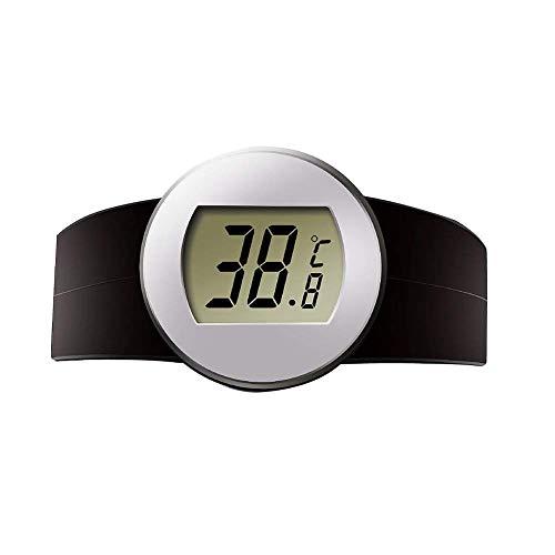QIND Wein Thermometer, Elektrische Digital Edelstahl Rot Wein Thermometer mit LCD-Display/Haltbarkeit/Einfache Bedienung