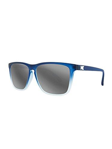 Knockaround Talkover-polarisierten Sonnenbrillen Kautschuk blau bereift Eis/Silber Rauch (Objektiv Rauch Blau)
