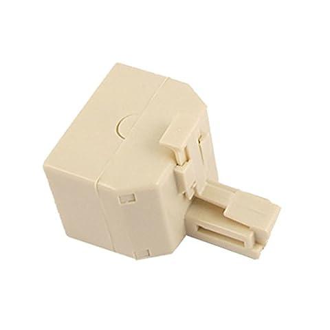 Sourcingmap Câble téléphonique RJ11 Duplex Adaptateur coupleur Jack (Lot de 2)