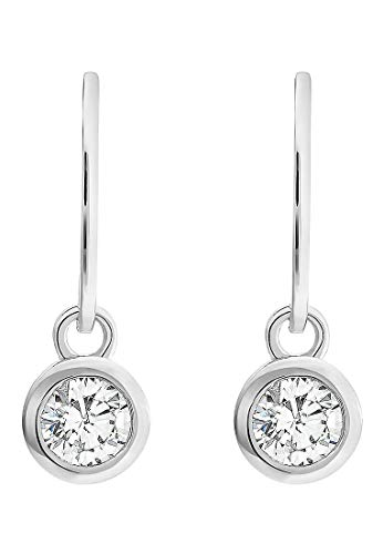JETTE Silver Damen-Ohrhänger 925er Silber 2 Zirkonia One Size 87544681