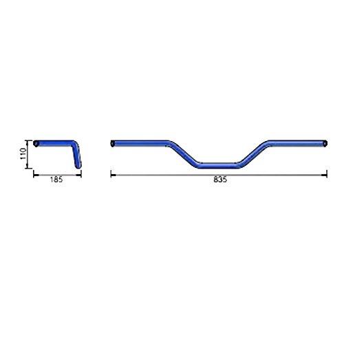 Manubrio acciaio cromato 22mm Flat Track LSL