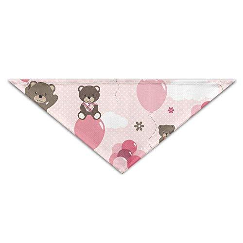 Sdltkhy Pet Triangle Bandana Bear with Air Ballon Love Washable Dog Puppy Scarf (Uk Ballons Halloween)