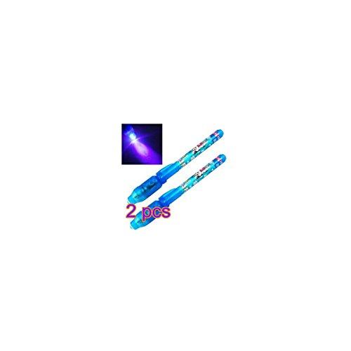 ofye 2x penna UV invisibile Sicurezza pennarello permanente Ultra Violet LED-Luce Blu