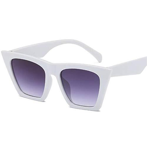 Mode Niedlich Sexy Retro Cat Eye Sonnenbrille Frauen Vintage Sonnenbrille Für Weibliche Damen Uv400 (Lenses Color : White)