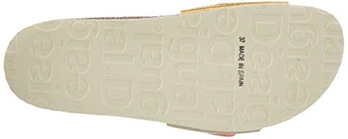 Desigual Bio1 Oro et Plata, Sandales Bout Ouvert Femme Beige (Beige 1024)