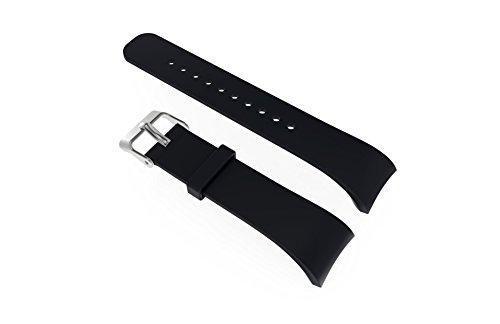 Gosuper Samsung Gear Fit 2 Cinturion, Morbido Silicone Watch Cinturion Stainless Steel Clasp Traspirante Sostituzione Cinghia per Samsung Gear Fit 2 PRO/Fit 2 SM-360