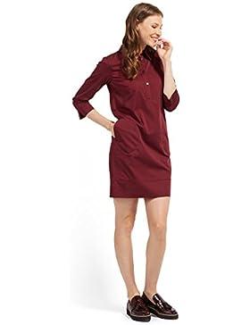 Tom Tailor für Frauen Dress Blusen-Kleid mit kurzer Knopfleiste