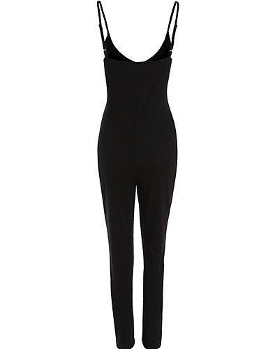 GSP-Combinaisons Aux femmes Sans Manches Moulant / Décontracté Modal Fin Elastique black-l