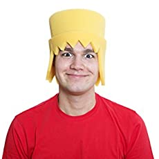 Sombrero de gomaespuma click amarillo