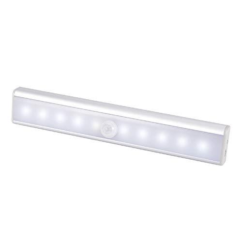 WZTO Luz Armario, Luz del gabinete 10 LED USB Recargable Barra de...