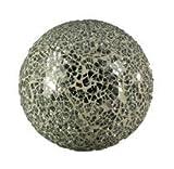 Voß_1 Kugel Spiegelmosaik (12 x 12 cm) silber