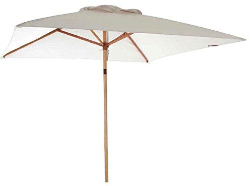 Ombrellone rettangolare in legno e telo in poliestere 2x3 mt per arredo giardino
