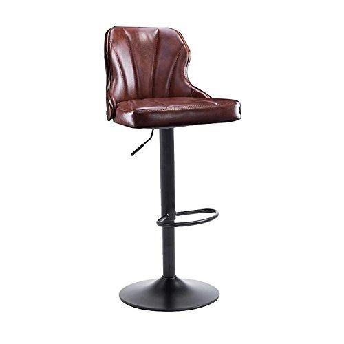 ZWL Bar-Stuhl, kreativer Massivholz-Aufzug-Stuhl-Stab-Stuhl europäischer Art-KTV-Stab-Stuhl-Korruption-Zähler-Eisen-Hocker-hoher Hocker drehen Sessel 40 * 90-110cm Mode ( Farbe : A )