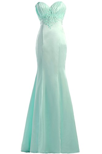Prom dresses forma Toscana sposa adorabile cuore raso della sirena dei vestiti da sera rigida partito lungo Verde
