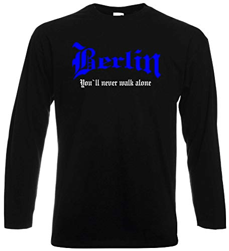 world-of-shirt / Berlin Herren Longsleeve You`ll Never Walk Alone