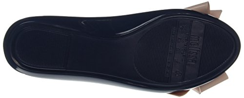 Melissa Space Love Ribbon Bow, Ballerines femme Blue (navy Nude Contrast)