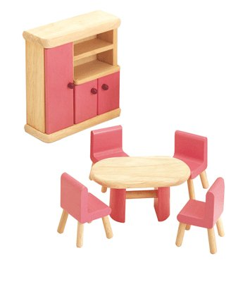 Pintoy Dolls House Wooden Accessory set - Dining Room