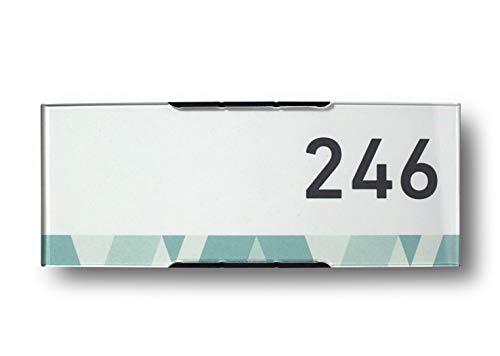 Modulex Pacific 61x157mm Büro Türschild | Aluminium und Spritzguss Polycarbonat in Anthrazit | nicht-reflektierende Frontscheibe | Büroschild | Wandschild