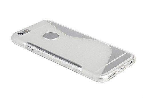 Transparent S Line Wave Soft coque en Gel TPU Etui Housse Coque Coque arrière pour Apple iPhone 4S