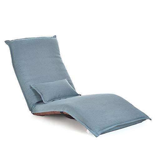 Lazy Sofa, Liegen Sofa Klappstuhl, Multi-funktionale Lazy Sofa, Simple Modern Lazy Sofa, Schlafsessel Sessel, Freizeit Sofa Stuhl (Farbe : Lake Blue)