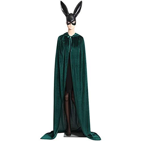 yujun737 Unisex in Voller länge Kapuzenmantel, Samtumhang, Halloween Party Cosplay Kostüm Mantel, Weihnachten Halloween Kostüme Umhang, XL, 170CM / (66.9Inch) für - Seine Und Ihre Kostüm Für Erwachsene
