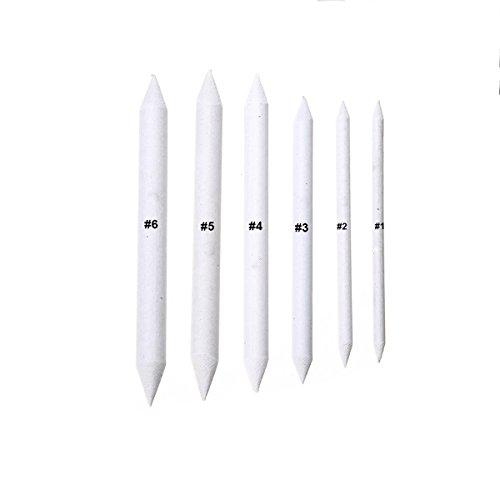 6Stücke Papierwischer Bleistife Schleifpapier Mischen Stump Zeichnung Stifte