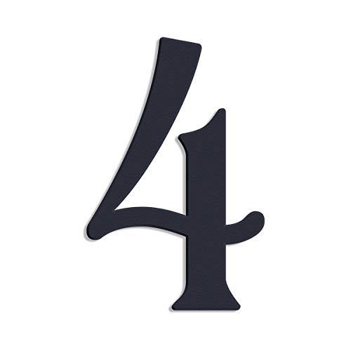 Thorwa verschnörkelte Design Edelstahl Hausnummer 4 Cabaletta Stil, anthrazit pulverbeschichtet, H:...